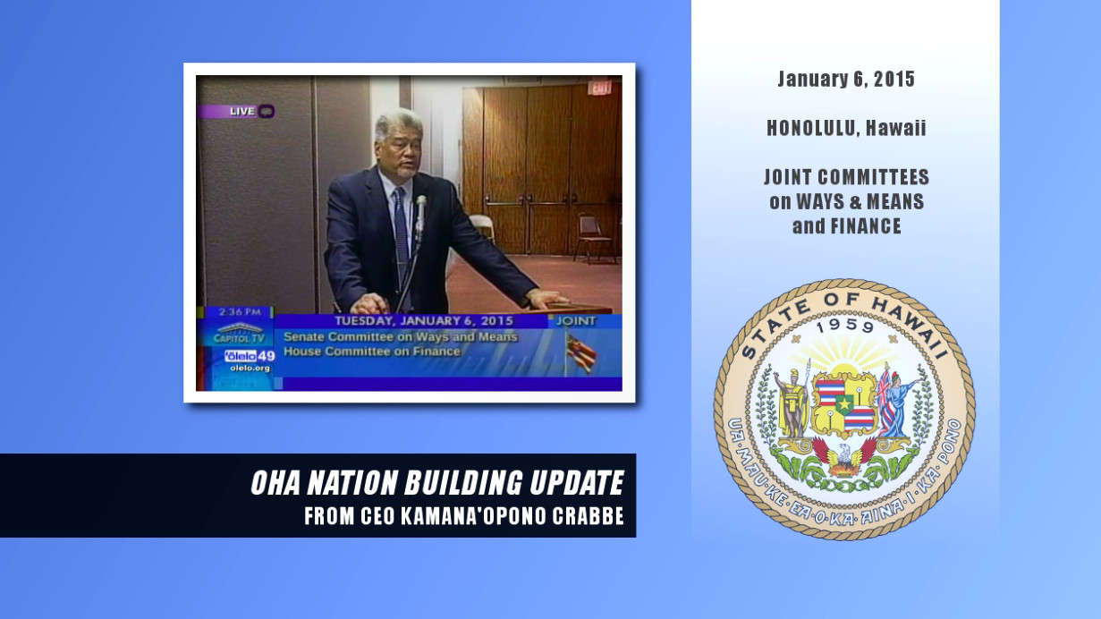 VIDEO: OHA Gives Nation Building Update