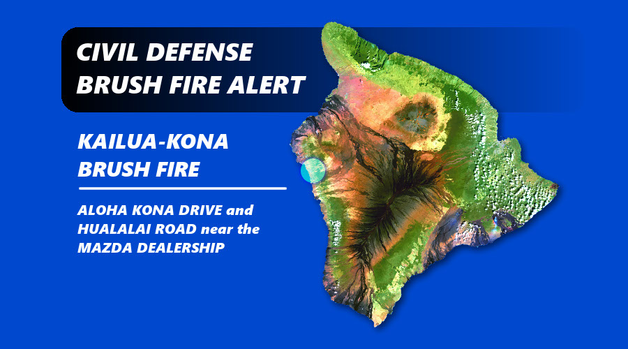 Runaway Brush Fire In Kona Contained