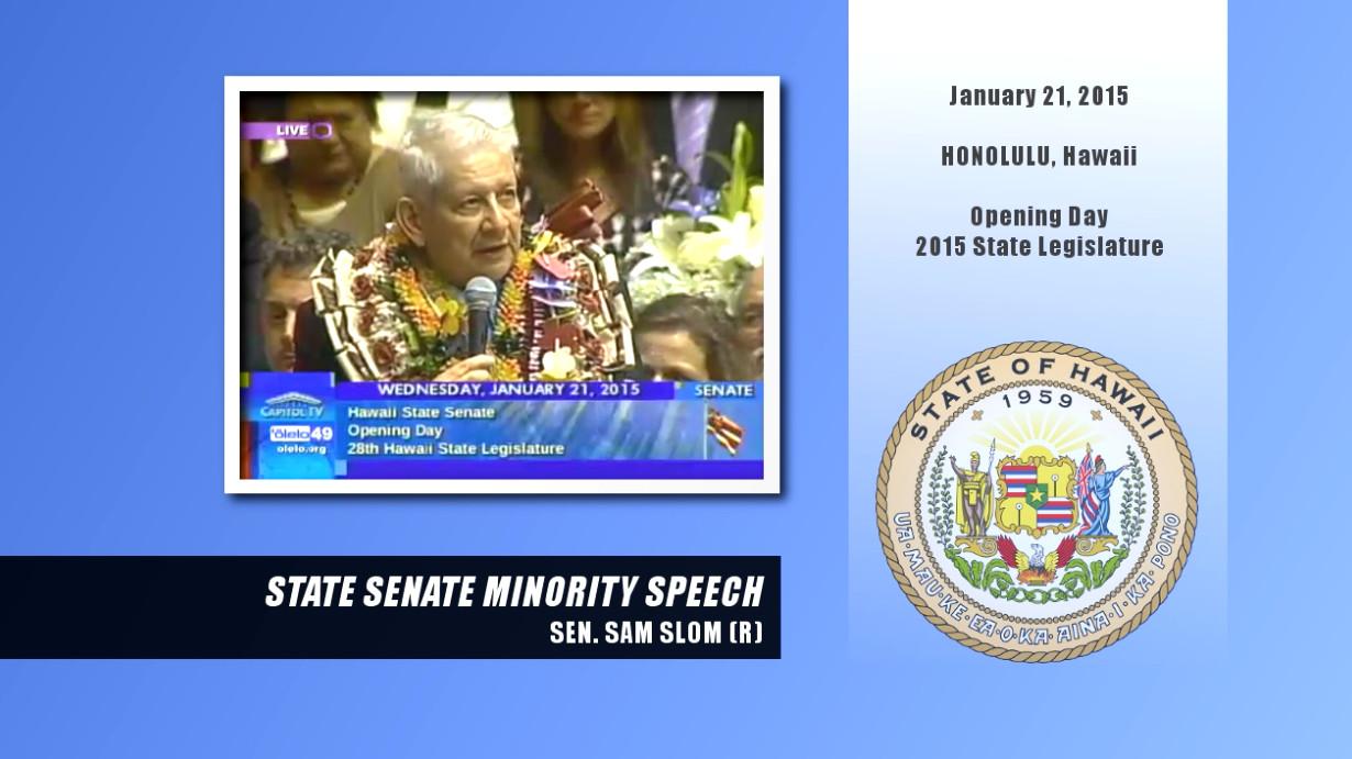 VIDEO: Unsettling Moment During Senator Slom's Minority Speech