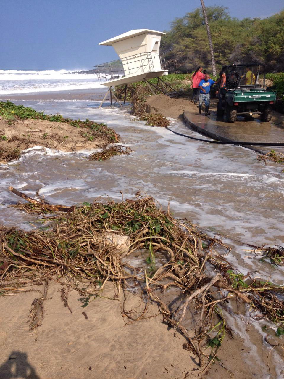 High Surf Damages West Hawaii Shores
