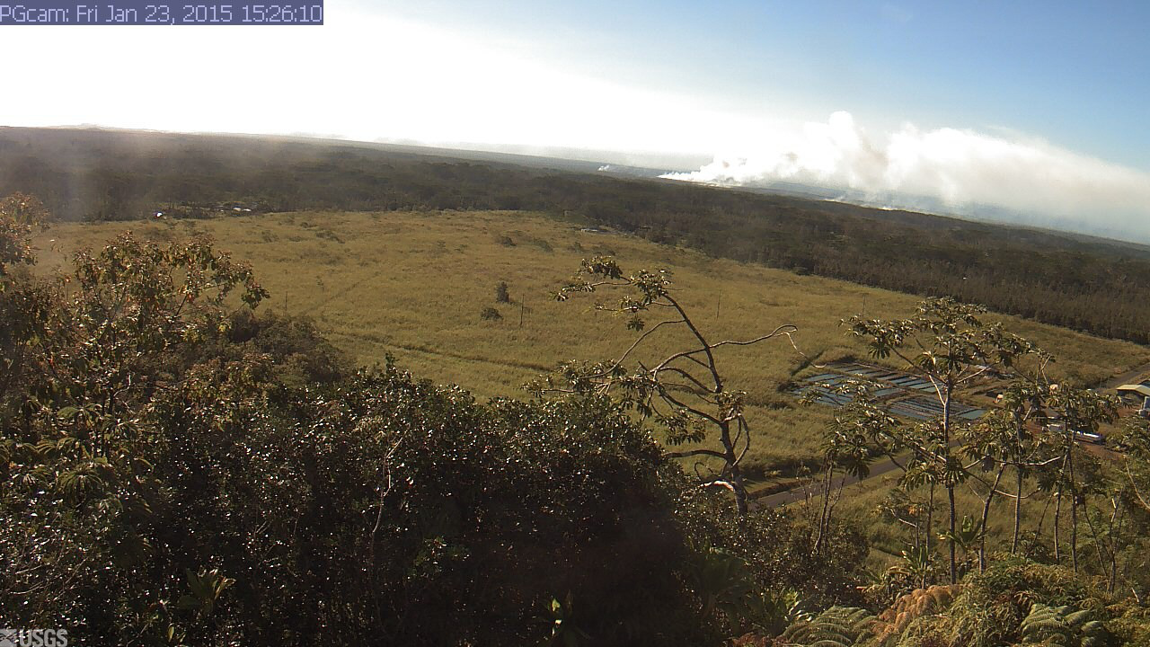 Brush Fires Again Ignited By Lava Flow