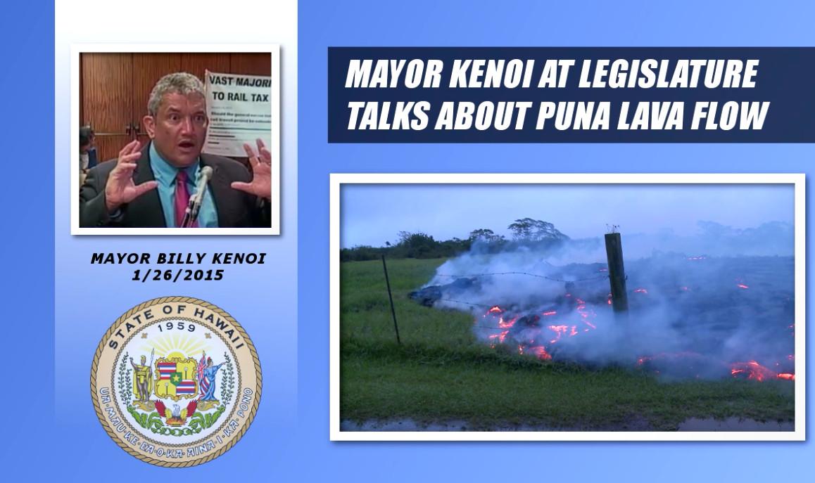 VIDEO: Mayor Billy Kenoi Addresses Lawmakers On Oahu