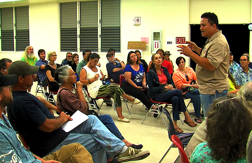 VIDEO: Puna Geothermal Hosts Contentious Meeting on Night Drilling