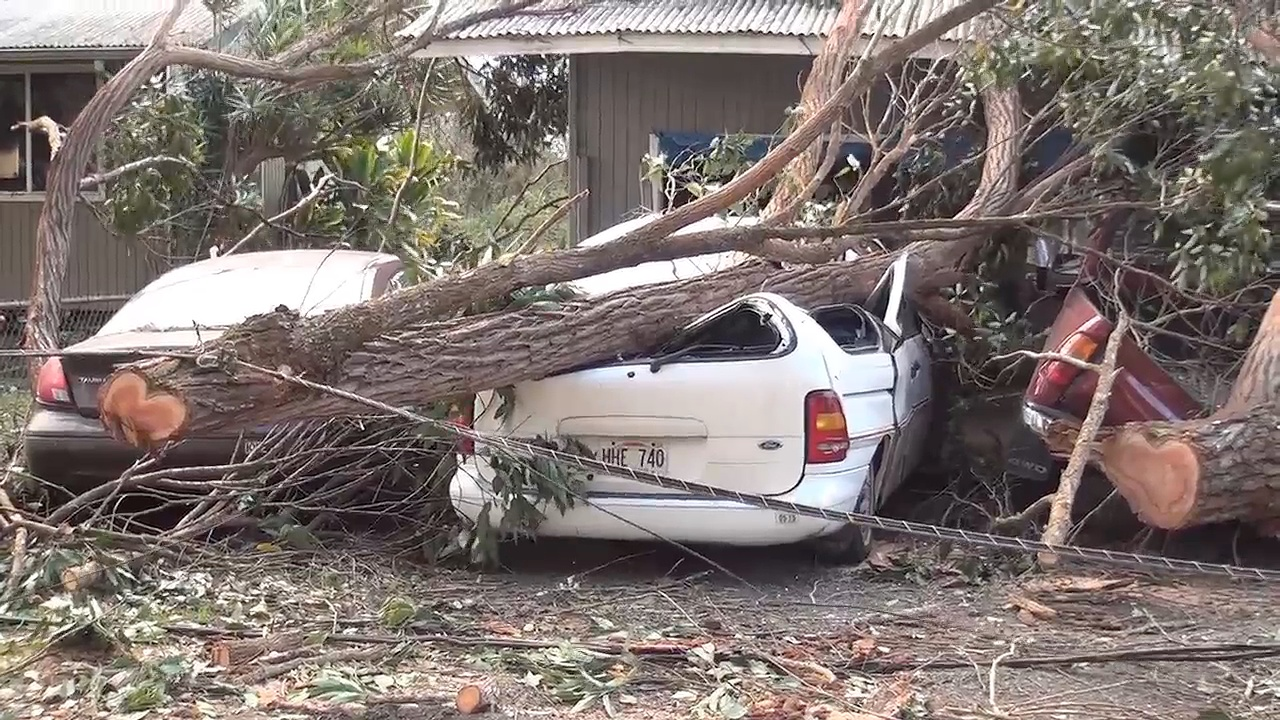 VIDEO: High Winds Damage North Hawaii Homes, Parks