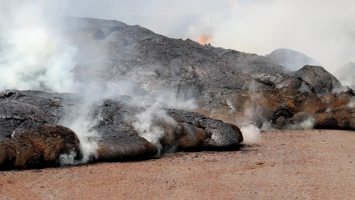 VIDEO: Continual Lava Front Stall Pondered By Geologists
