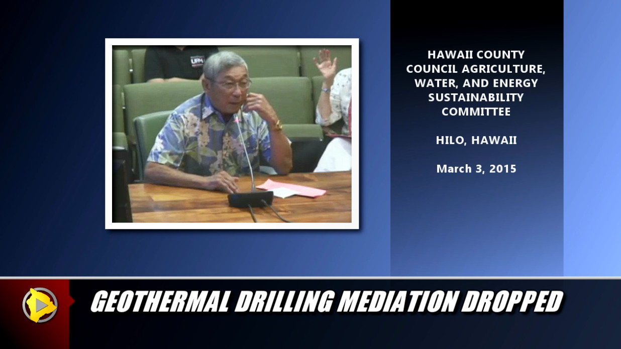 VIDEO: Geothermal Drilling Mediation Withdrawn