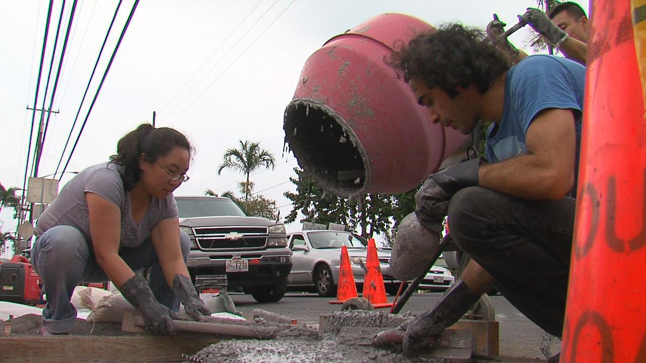"VIDEO: Hawaii's First ""Lunar Sidewalk"" Poured"