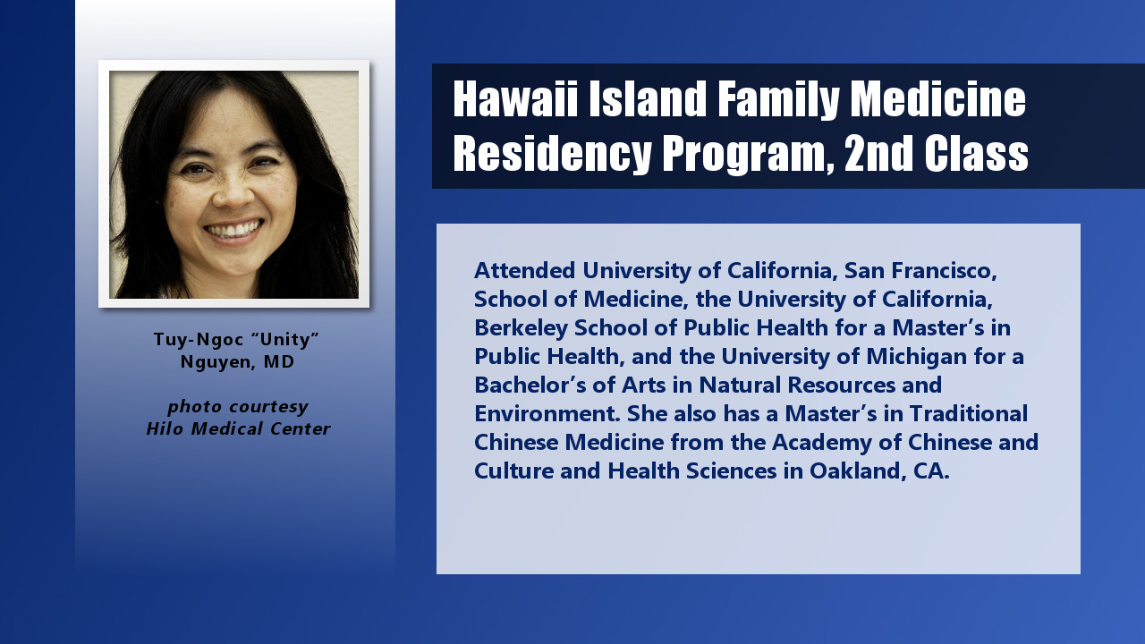 Four New Residents For Hilo's Primary Care Training Program