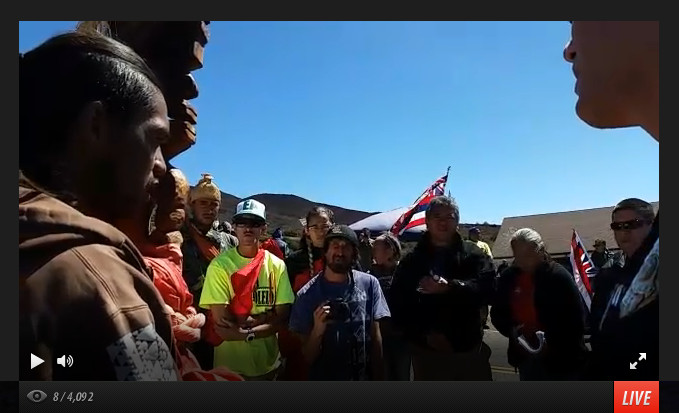 Mauna Kea Protectors' TMT Road Block Underway