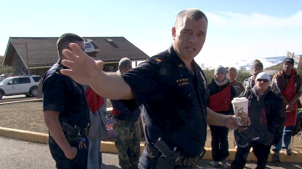 VIDEO: Police Meet With Mauna Kea Protectors Over Blockade
