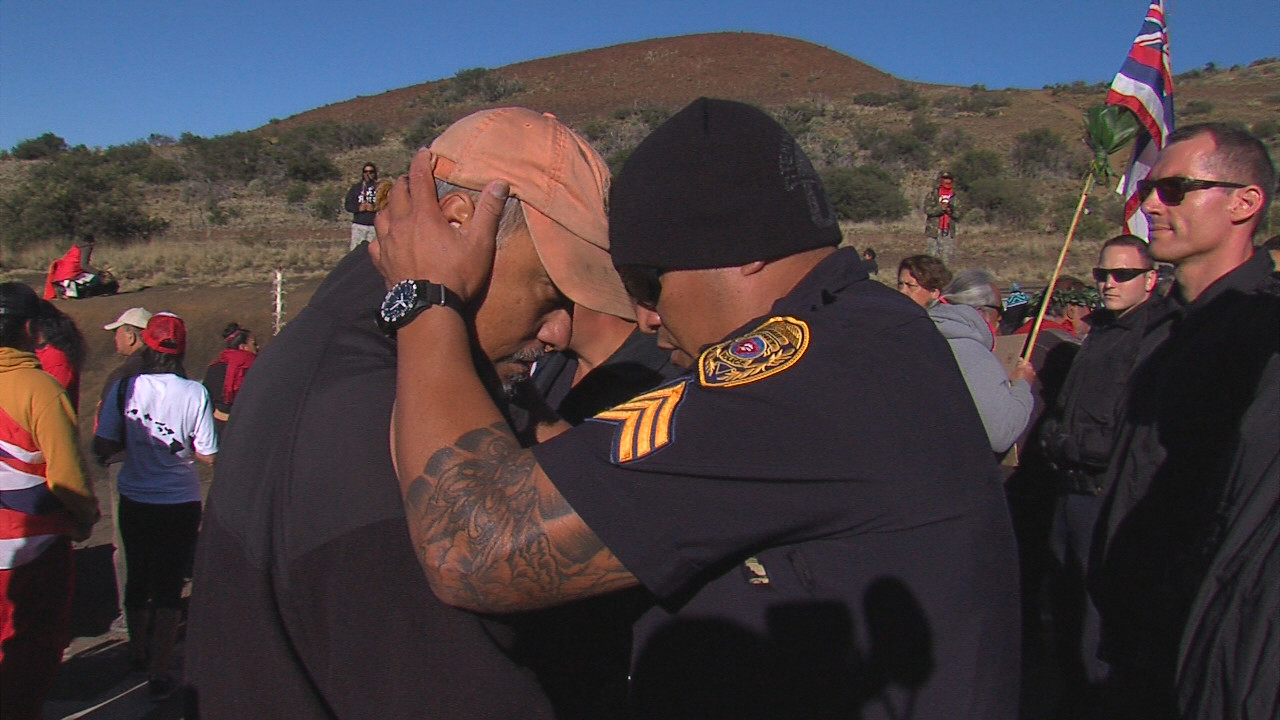 April 2, 2015: The moment of the first arrest on Mauna Kea.