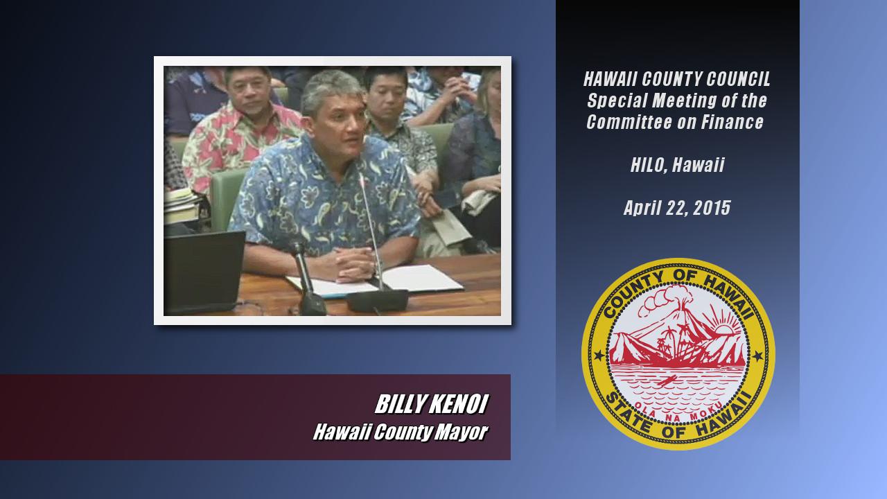 VIDEO: Mayor Kenoi Apologizes To Hawaii County Council