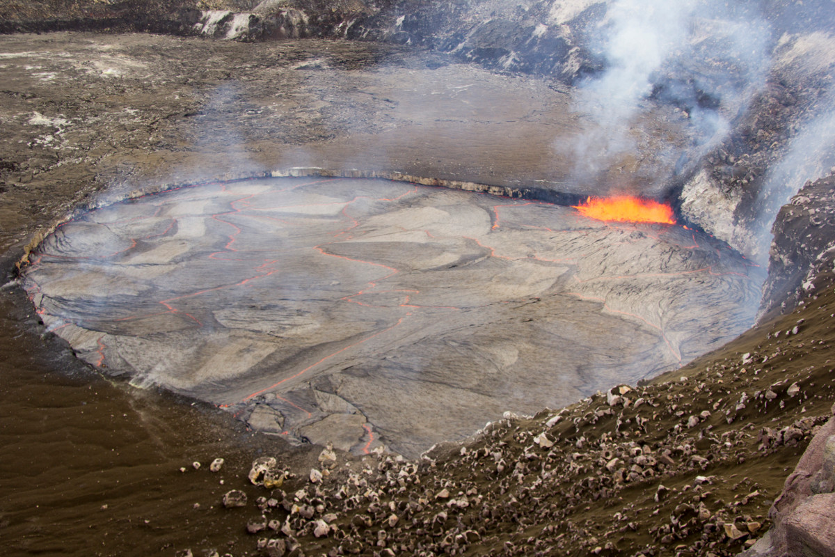 VIDEO: Show Continues At Spattering, Splashing Lava Lake