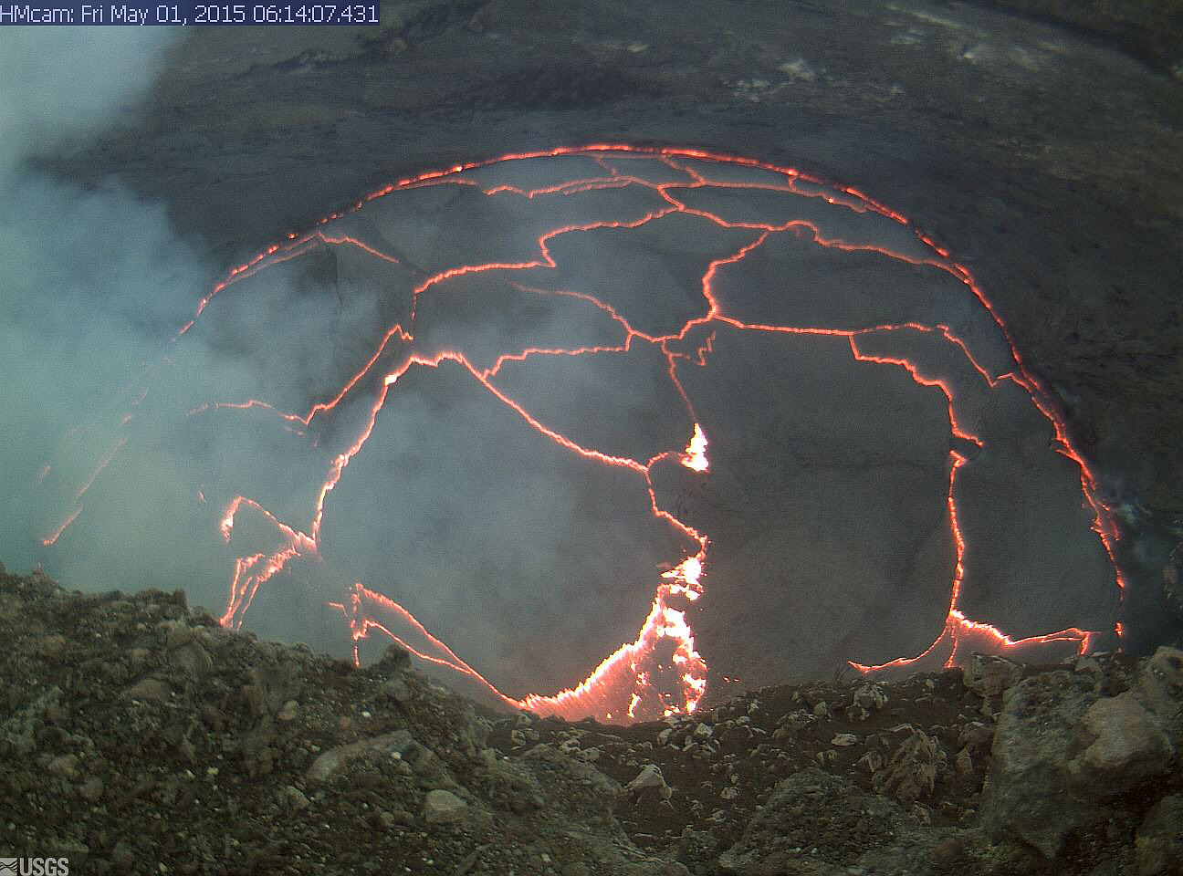 Overflow Area Enlarges At Volcano Summit Lava Lake