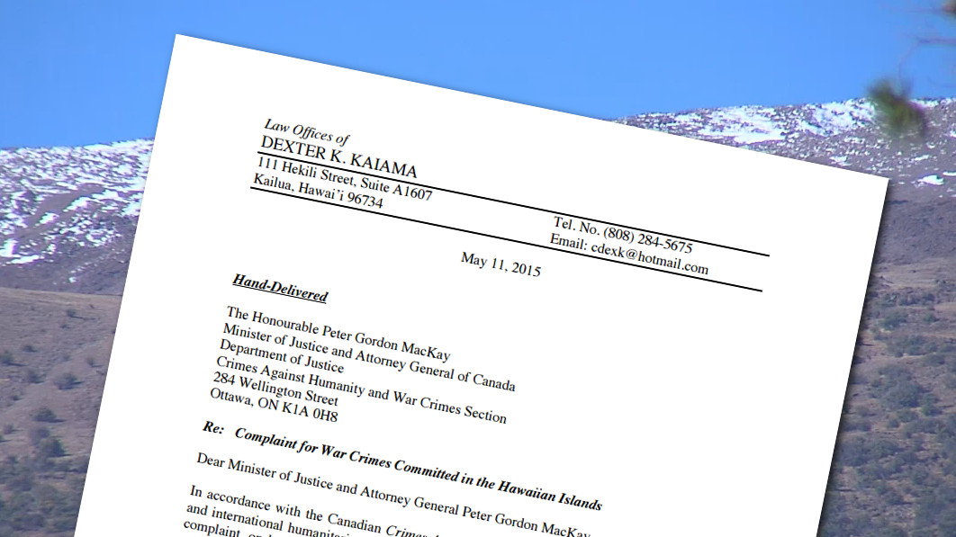 Mauna Kea War Crimes Complaint Filed In Canada