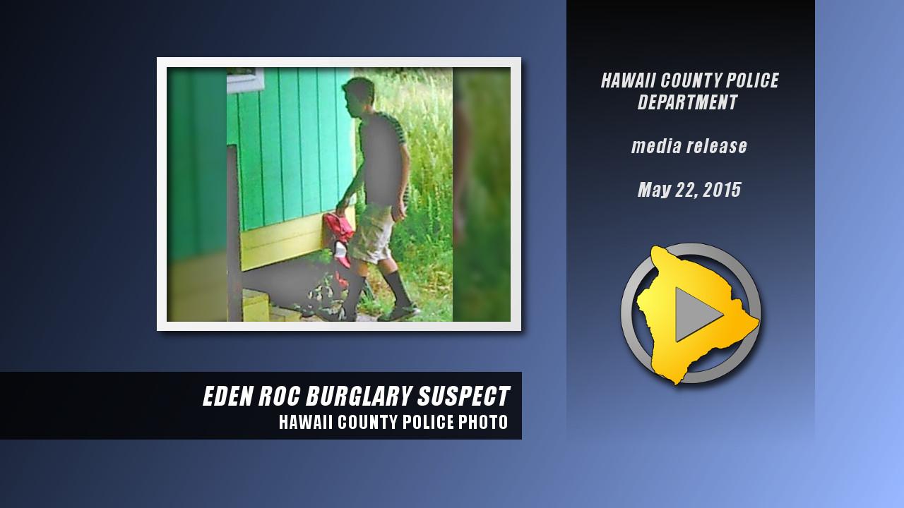 Eden Roc Burglar Caught On Video