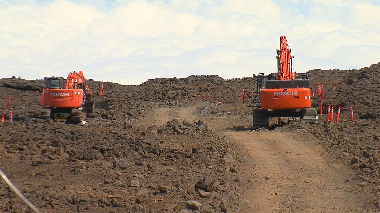 The TMT construction site on the northern plateau of the Mauna Kea summit area.