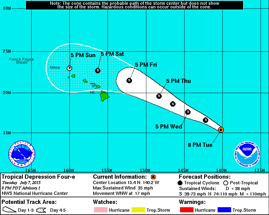 Tropical Depression Forms, Storm Could Impact Hawaii