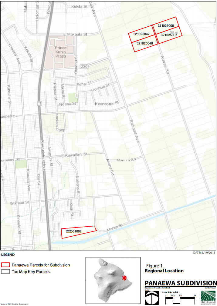 Location of the two proposed subdivisions courtesy draft EA document.