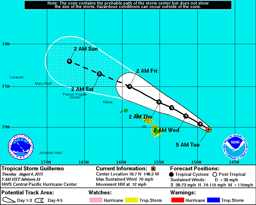 7 am UPDATE – Guillermo Maintains Strength