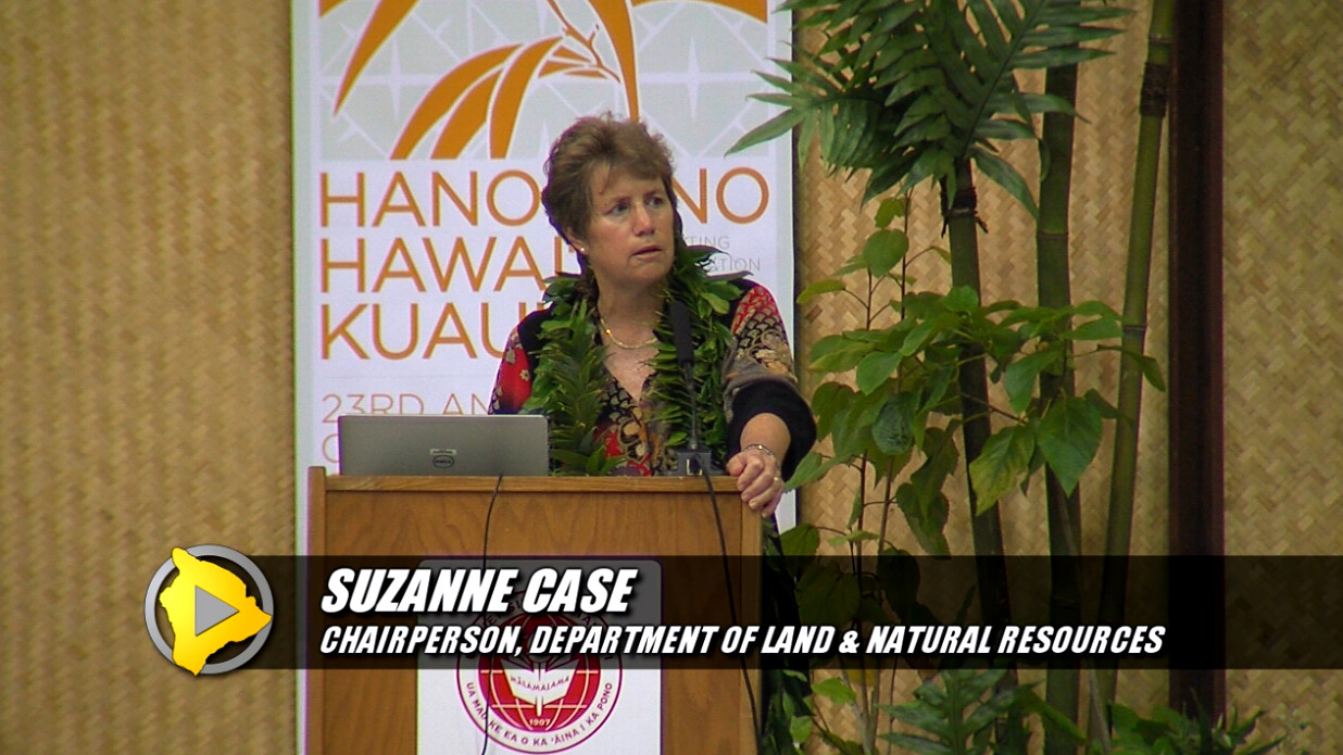 VIDEO: DLNR Chair Suzanne Case on Fencing, Hunting