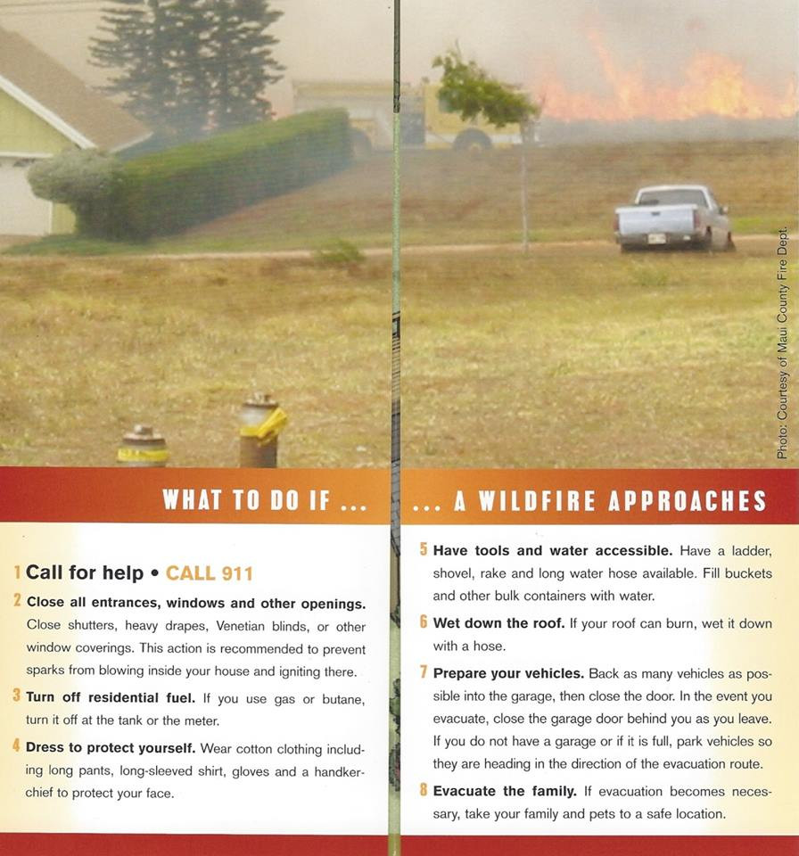This Firewise Communities Hawaii brochure image comes to us courtesy Denise Laitinen.