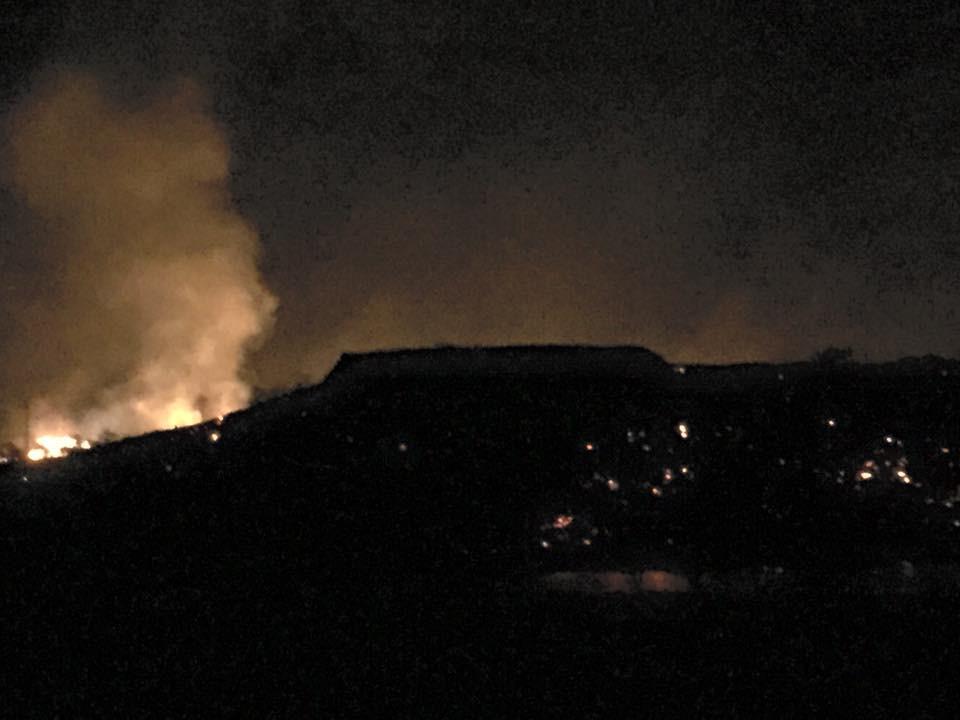 Brushfire Surrounds Pu'ukohola Heiau