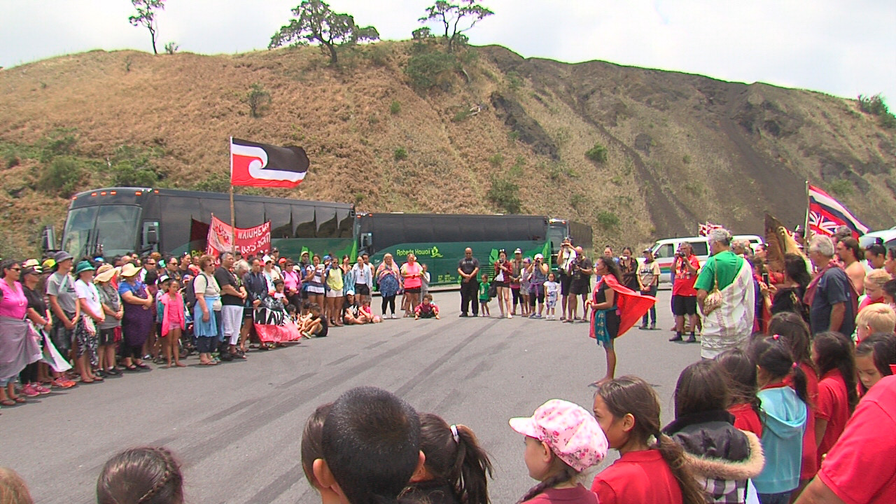 VIDEO: Maori Visitors Welcomed To Mauna Kea