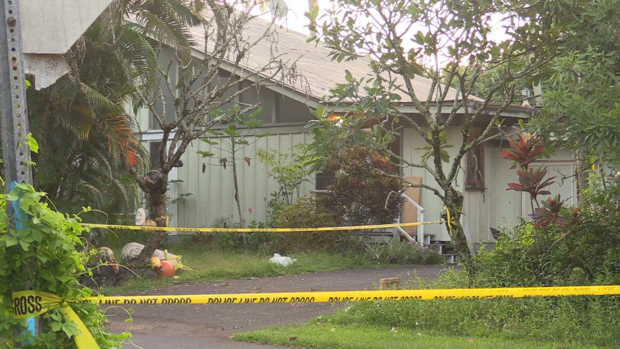 Image from video by Daryl Lee, taken at the crime scene in Kapoho.