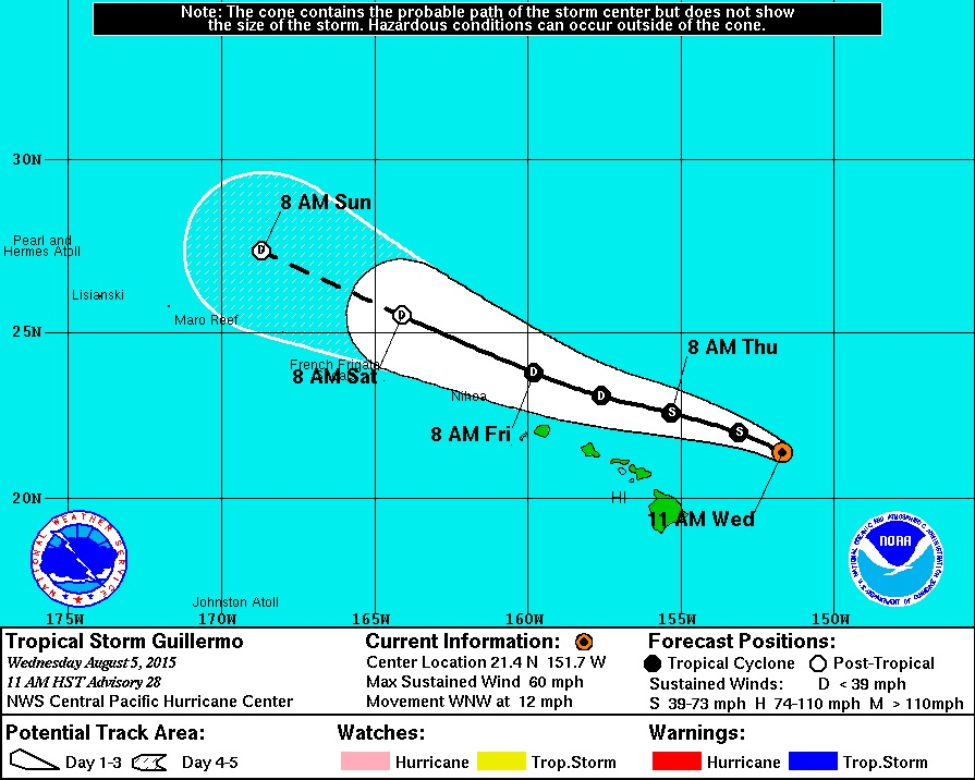 11 am Update – Tropical Storm Watch Cancelled