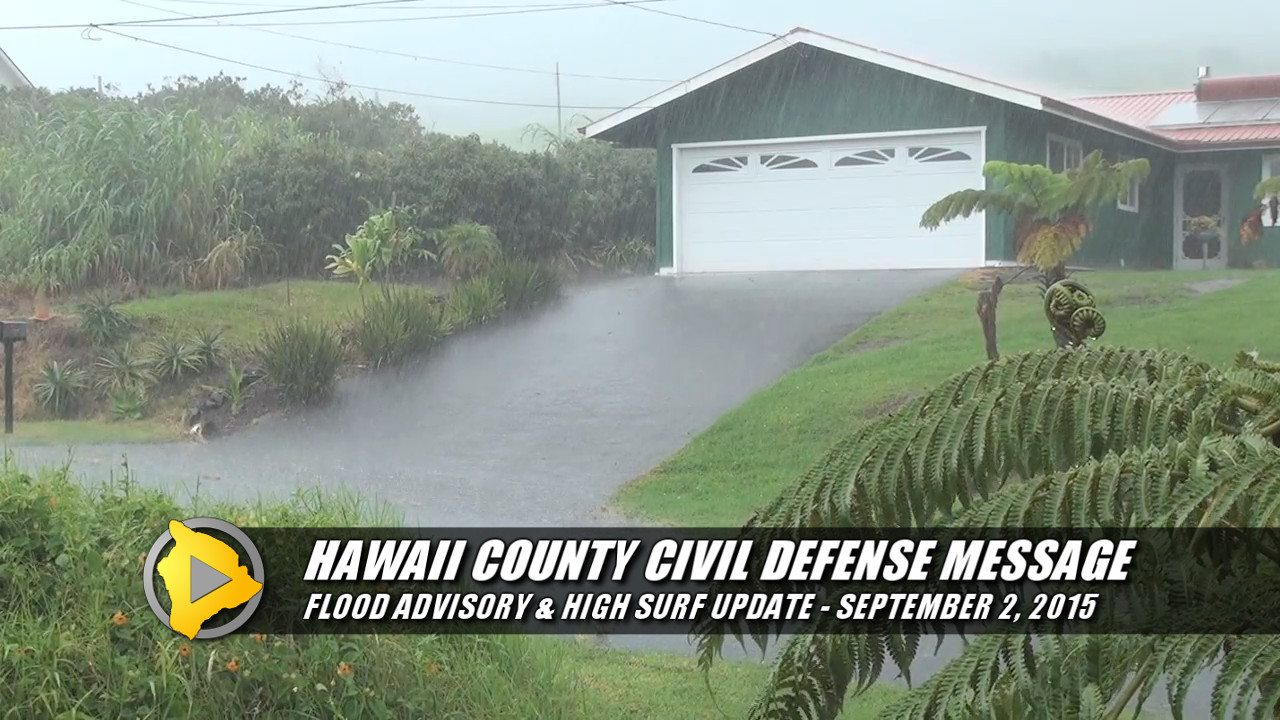 VIDEO: Flood Advisory In Effect For Hawaii Island