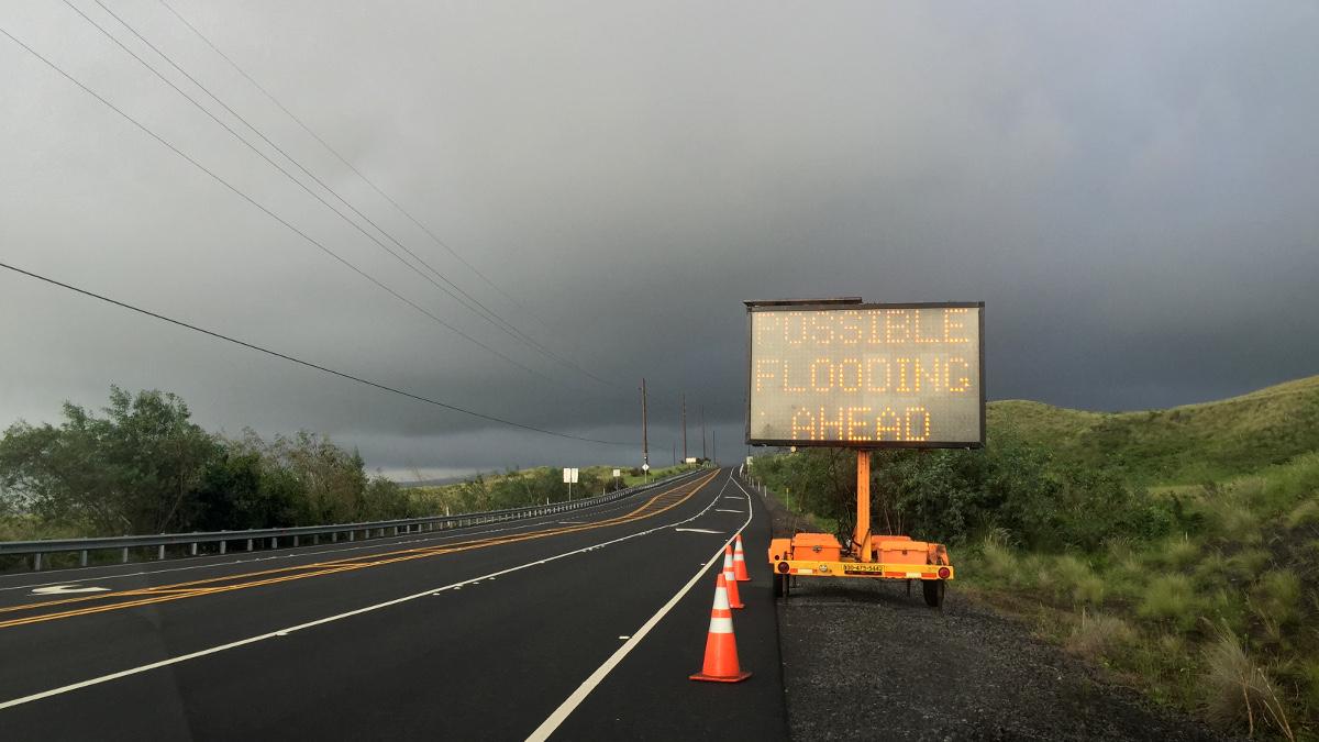 Flash Flood Warning In Effect For Kona