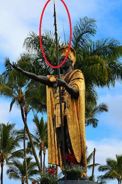 Spear Stolen From Hilo Kamehameha Statue