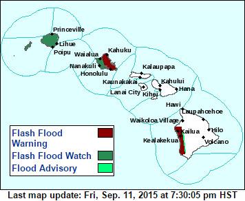 Flash Flood Warning Issued For Kona