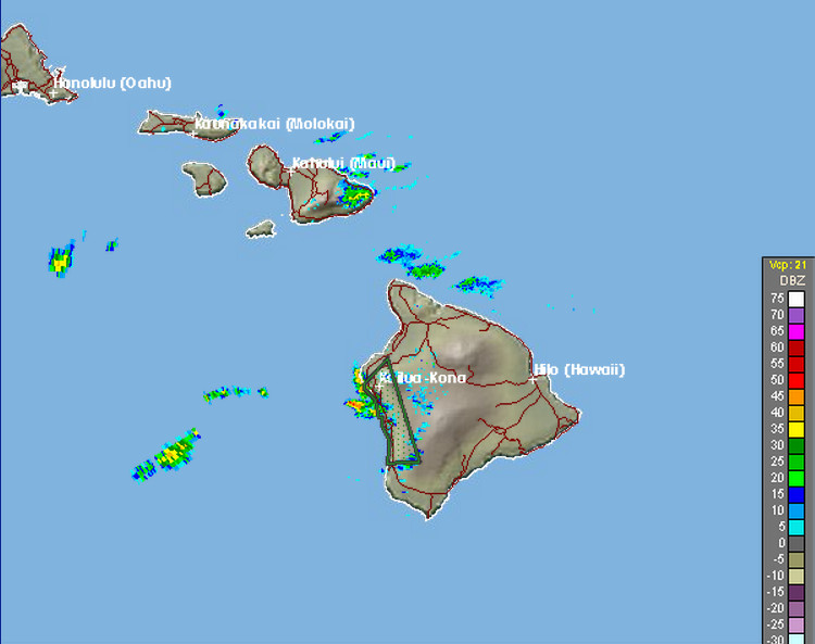 Flash Flood Warning Extended For Kona, Road Closure