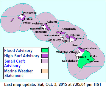 Flood Advisory Issued For Hawaii Island