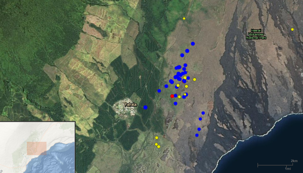 Earthquake Swarm Observed Near Pahala