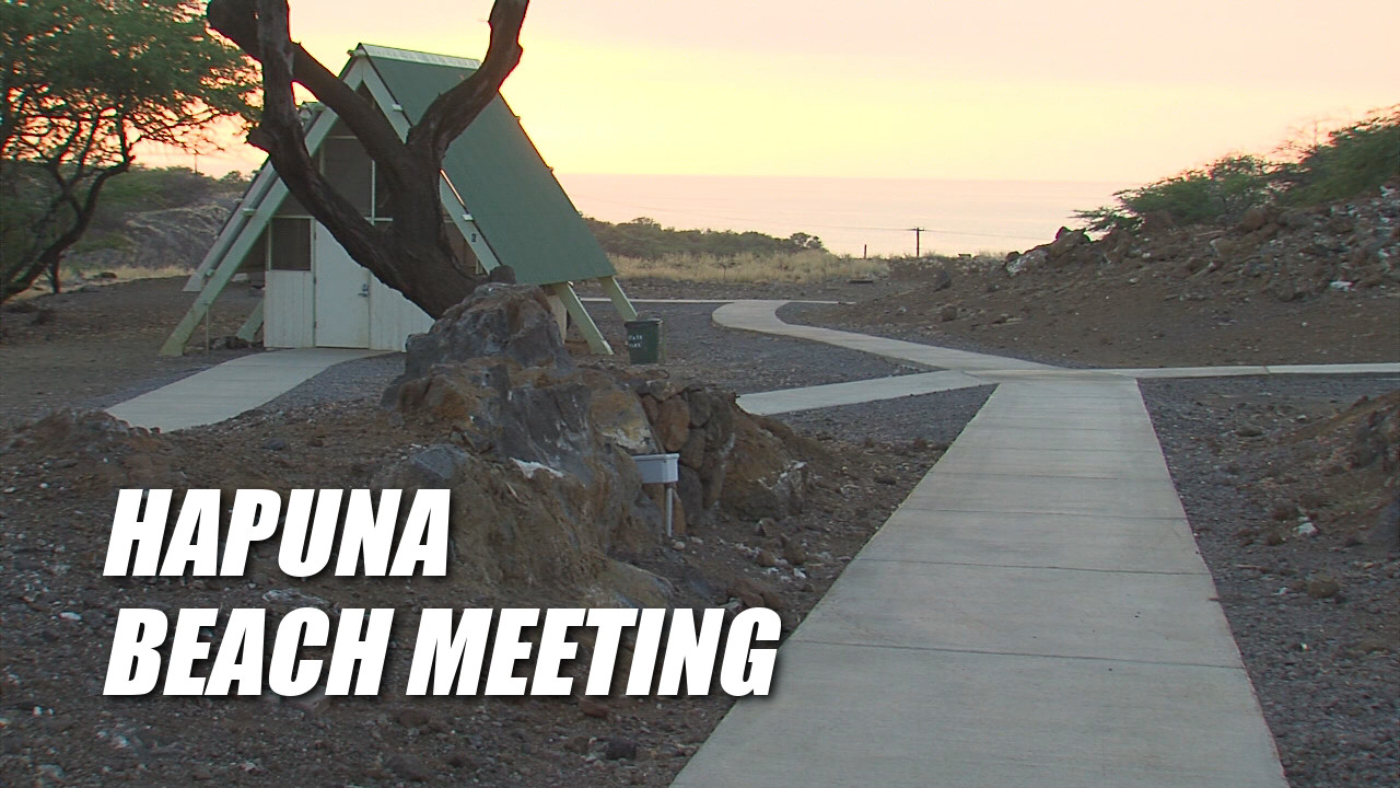 VIDEO: Hapuna Beach Talk Story Held