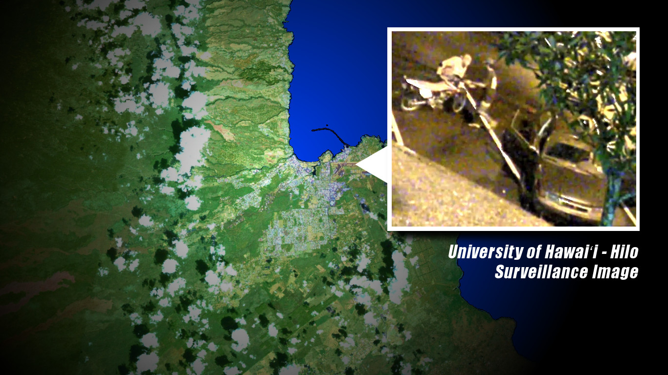 Dirt Bike Theft Caught On UH-Hilo Campus Camera