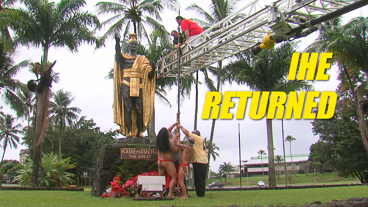 VIDEO: Spear Restored To Kamehameha Statue Hand In Hilo
