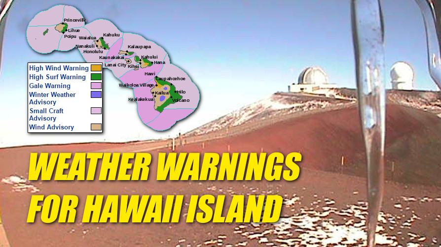 Ice, Wind and Surf: Weather Warnings Issued For Hawaii Island
