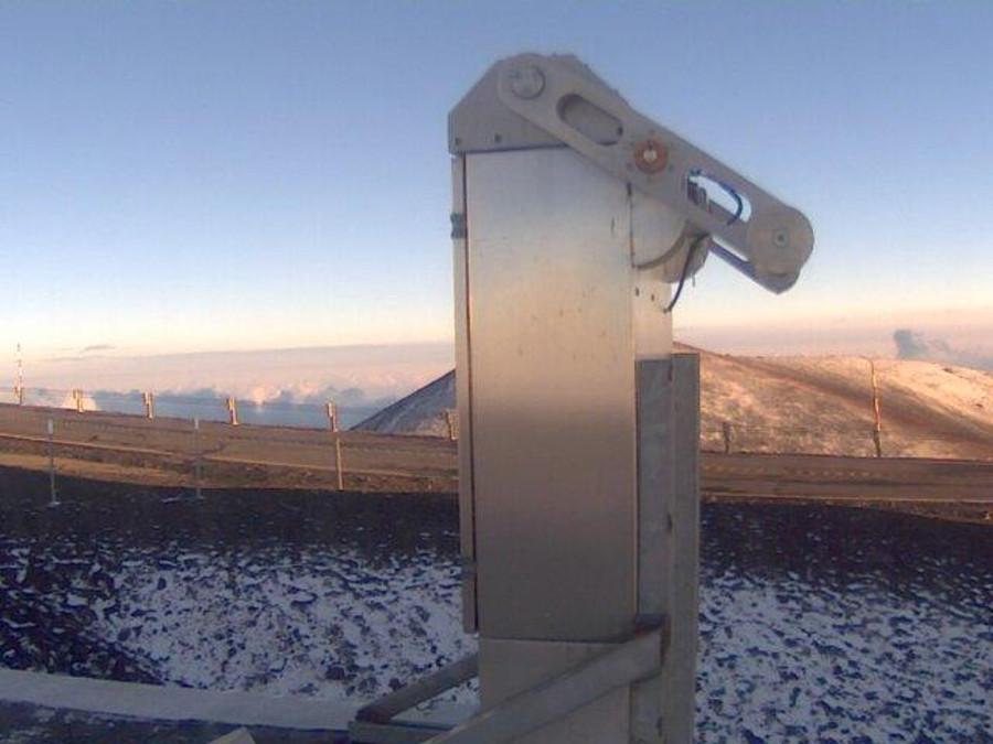 Snow Dusts Mauna Kea, Access Road Closed