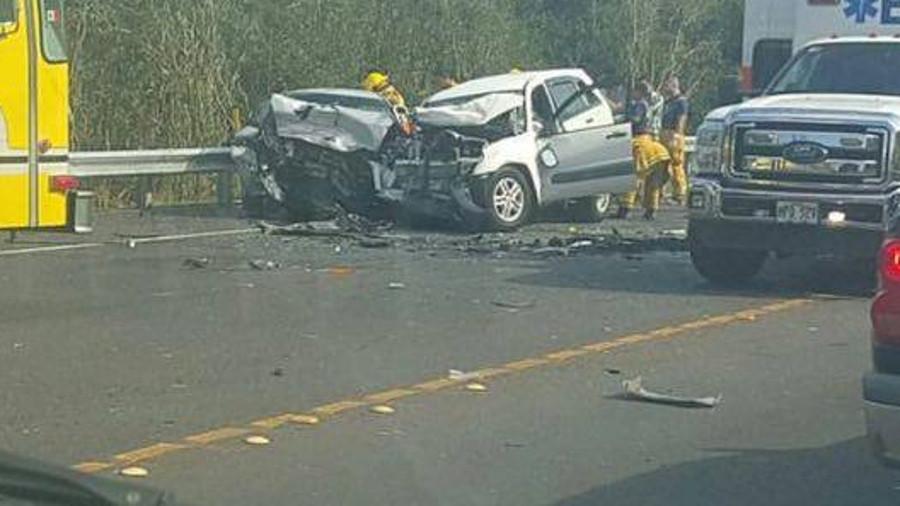 Crash Closes Highway 130 Near Keaau Transfer Station