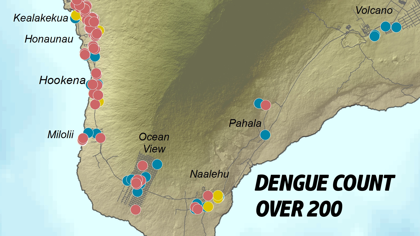 Hawai Dengue Fever Count Passes 200 On New Years Day