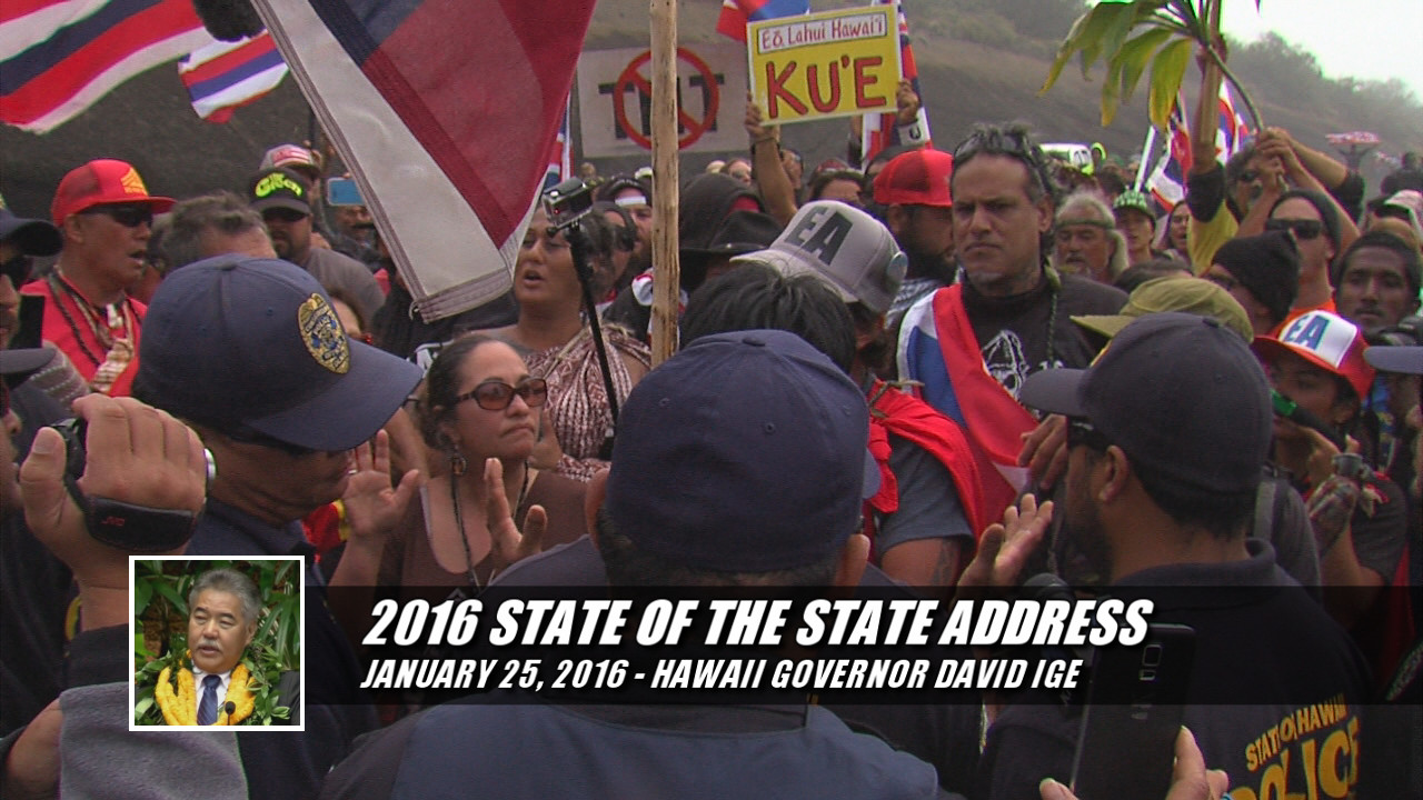 VIDEO: Governor Ige Affirms Support For TMT In State Address