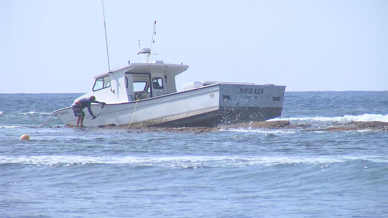 DLNR Cites Owner Of Boat Stuck At Kohanaiki