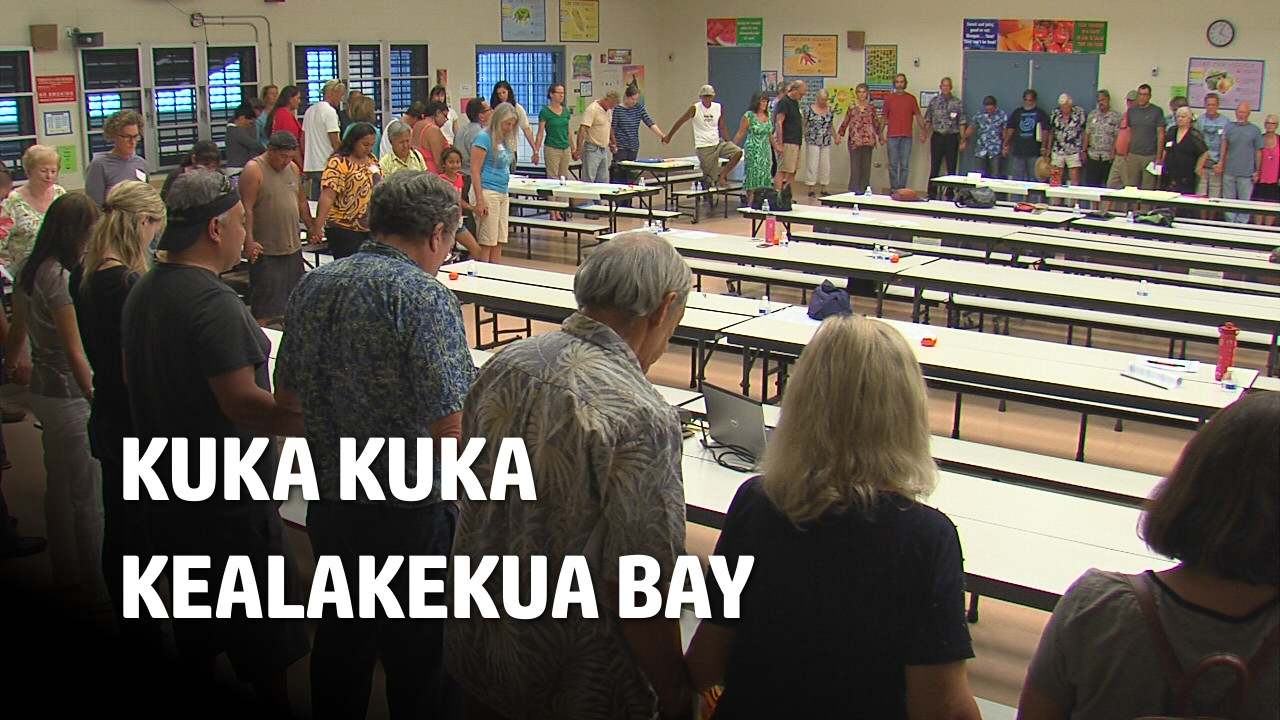 VIDEO: Crowded Meeting On Kealakekua Bay
