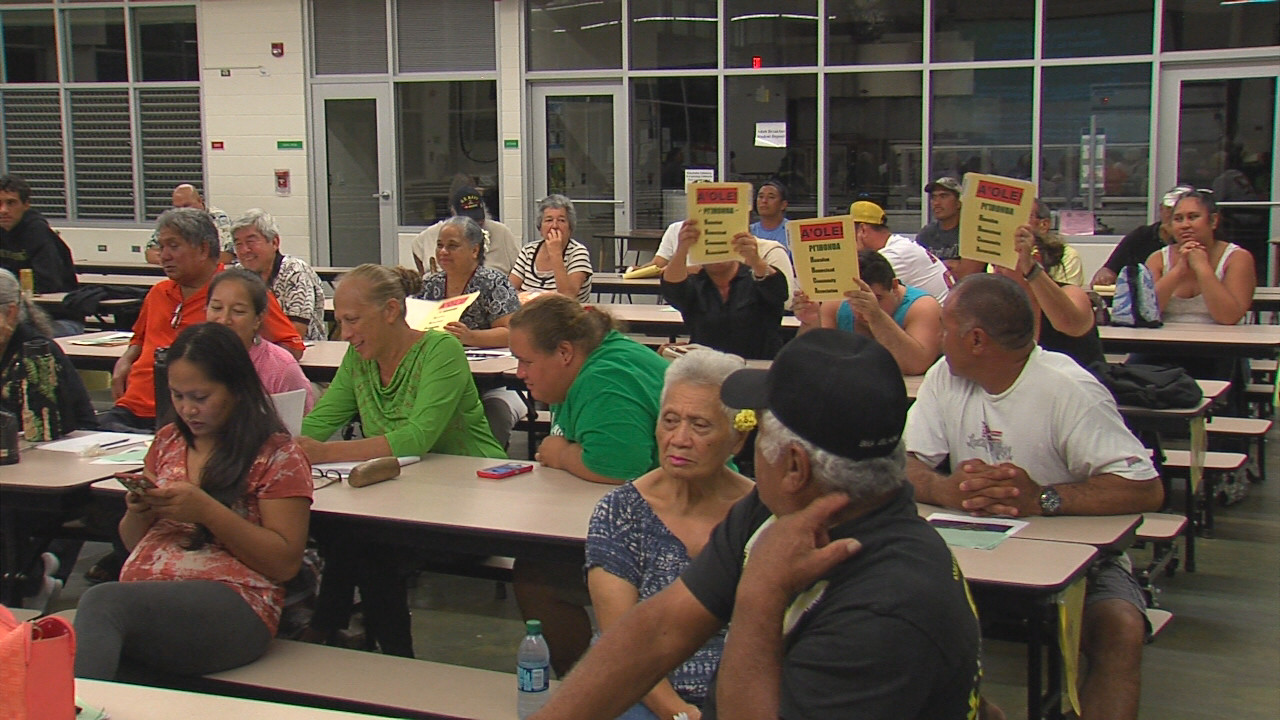 VIDEO: Hawaiians Tell DHHL A'ole To DLNR Humu'ula Leases