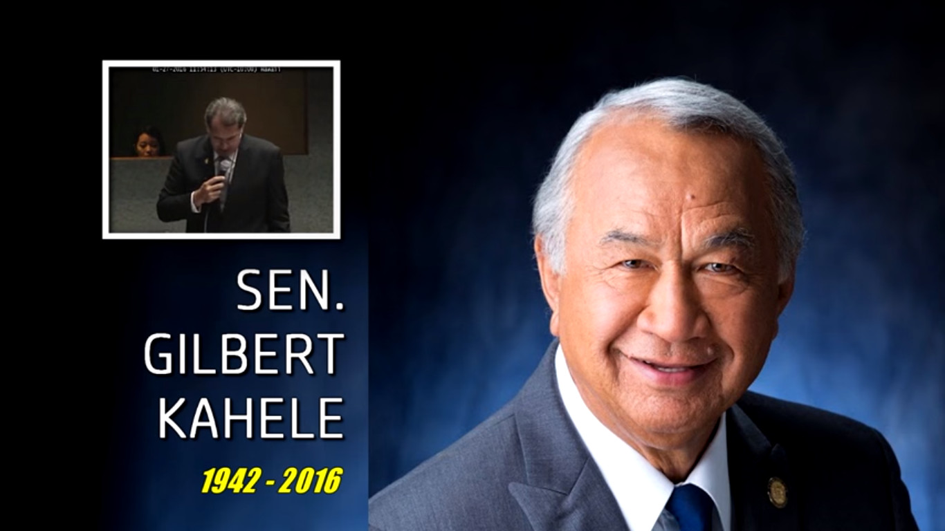 VIDEO: Gil Kahele Honored In Emotional Senate Floor Session