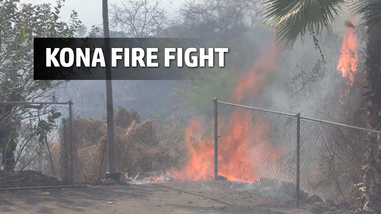 VIDEO: Footage Captures Desperate Brush Fire Fight In Kona